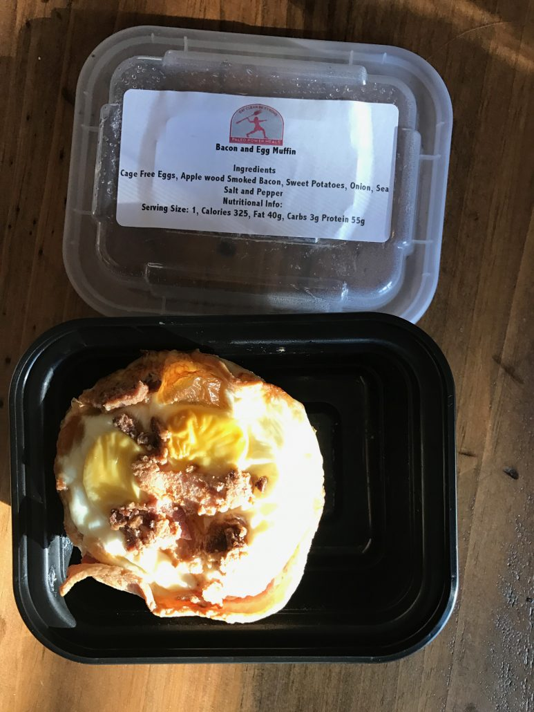 paleo meal delivery bacon & egg muffin