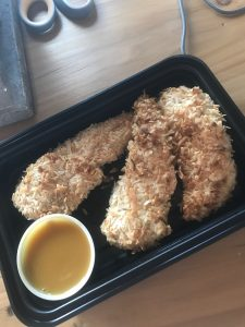 coconut crusted chicken fingers