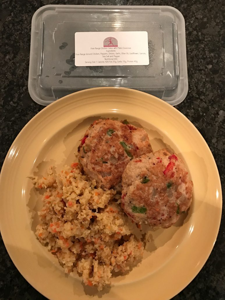 chicken cakes with paleo couscous