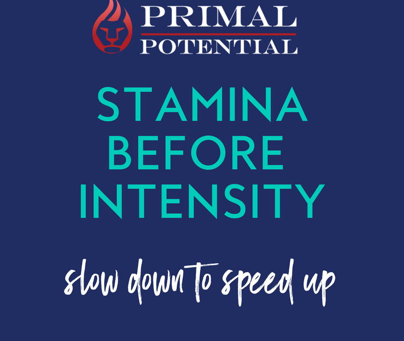 430: Slowing Down To Speed Up – Stamina Before Intensity
