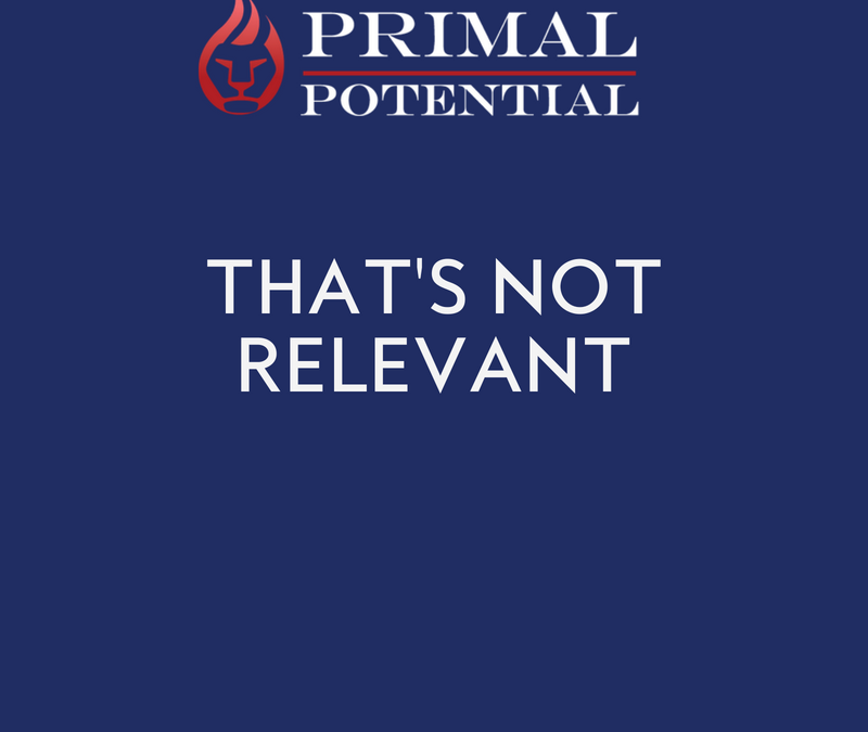 483: That's Not Relevant