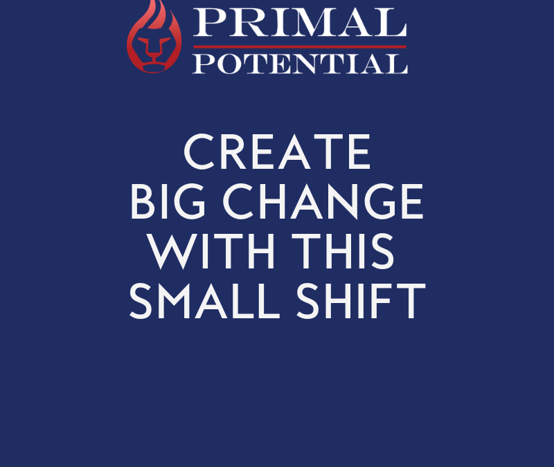 525: How To Create Big Change with a Small Shift