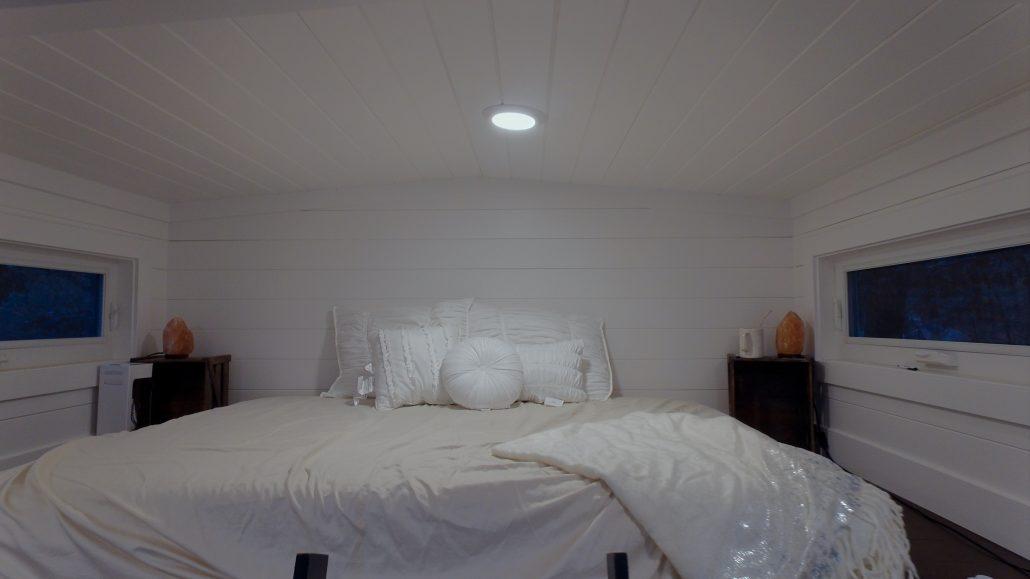 sleeping loft tiny house