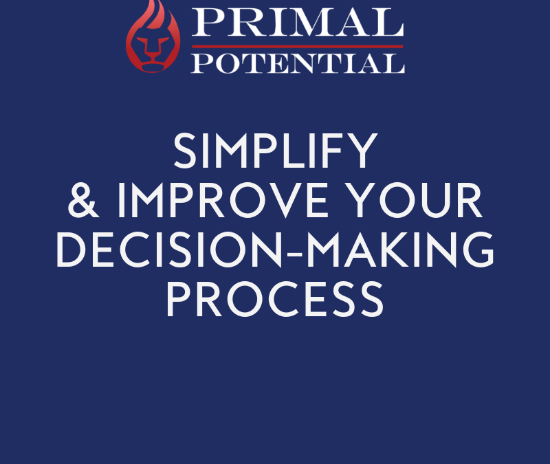 533: Simplify & Improve Your Decision Making In Any Moment
