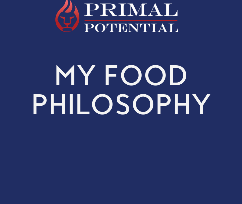 551: My Food Philosophy